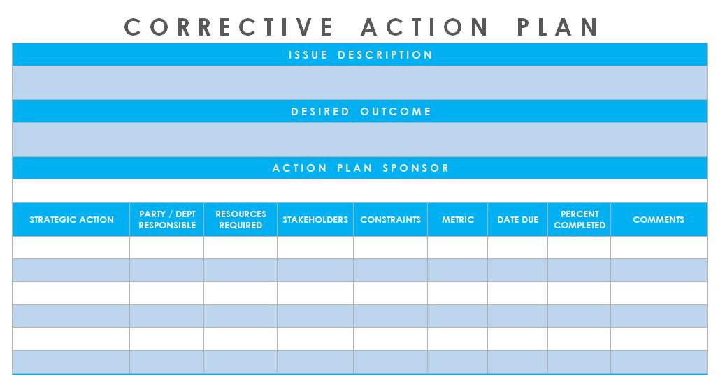 Corrective-Action-Plan-Template