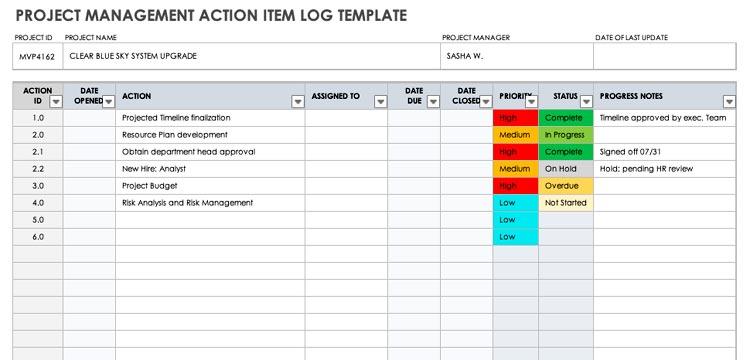 Project-Management-Action-Iog