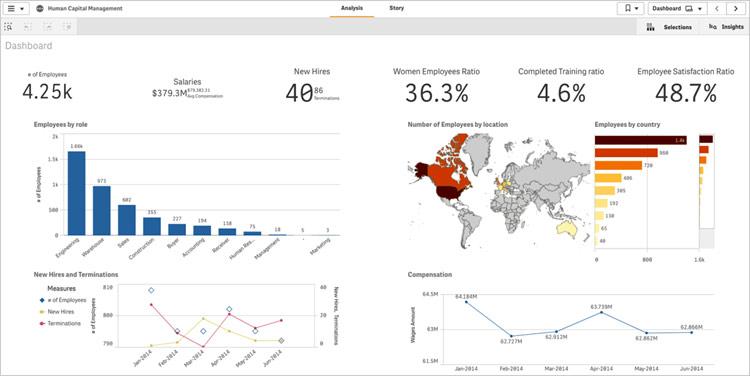 Fig. 1 Executive HR dashboard